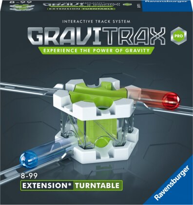Ravensburger GraviTrax PRO Erweiterung Turntable - Ideales Zubehör für spektakuläre Kugelbahnen, Konstruktionsspielzeug für Kinder ab 8 Jahren
