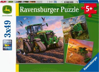 Ravensburger Kinderpuzzle 05173 - John Deere in Aktion - 3x49 Teile Puzzle für Kinder ab 5 Jahren