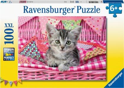 Ravensburger Kinderpuzzle 12985 - Niedliches Kätzchen 100 Teile XXL - Puzzle für Kinder ab 6 Jahren