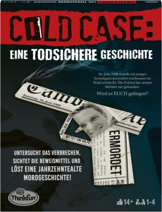 ThinkFun - 76464 - Cold Case: Eine todsicher Geschichte. Der Krimi im eigenen Heim. Wer findet den Mörder? Ein Rätsel-Spiel für Einen oder in der Gruppe ab 14 Jahren