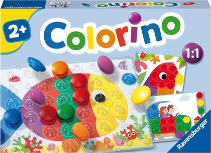 Ravensburger Kinderspiele 20832 - Colorino - Kinderspiel zum Farbenlernen, Mosaik Steckspiel, Spielzeug ab 2 Jahre