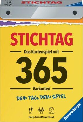 Stichtag – 27047 – Dein Tag - Dein Spiel – Das spannende Stichspiel mit 365 Varianten von Ravensburger für 3 bis 5 Spieler ab 10 Jahren – inklusive Schnellstart-Anleitung!