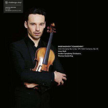 London Symphony Orchestra, Peter Iljitsch Tschaikowsky (1840-1893), Dimitri Schostakowitsch (1906-1975), Thomas Sanderling & Linus Roth - Violin Concertos (2 LPs)