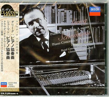 Claudio Arrau, Edvard Grieg (1843-1907), Robert Schumann (1810-1856), Christoph von Dohnanyi & Royal Concertgebouw Orchestra - Piano Concertos (Japan Edition)