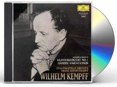 Johannes Brahms (1833-1897), Franz Konwitschny, Wilhelm Kempff & Staatskapelle Dresden - Klavierkonzert No.1/Handel-Variationen (Japan Edition)