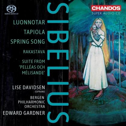 Jean Sibelius (1865-1957), Edward Gardner, Lise Davidsen & Bergen Philharmonic Orchestra - Luonnatar / Tapiola / Spring Song (SACD)