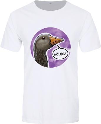 Cute But Abusive Goose: Asshole - Men's Premium T-Shirt