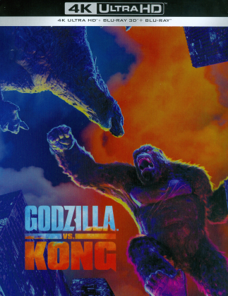 Godzilla vs. Kong (2021) (Limited Edition, Steelbook, 4K Ultra HD + Blu-ray 3D + Blu-ray)