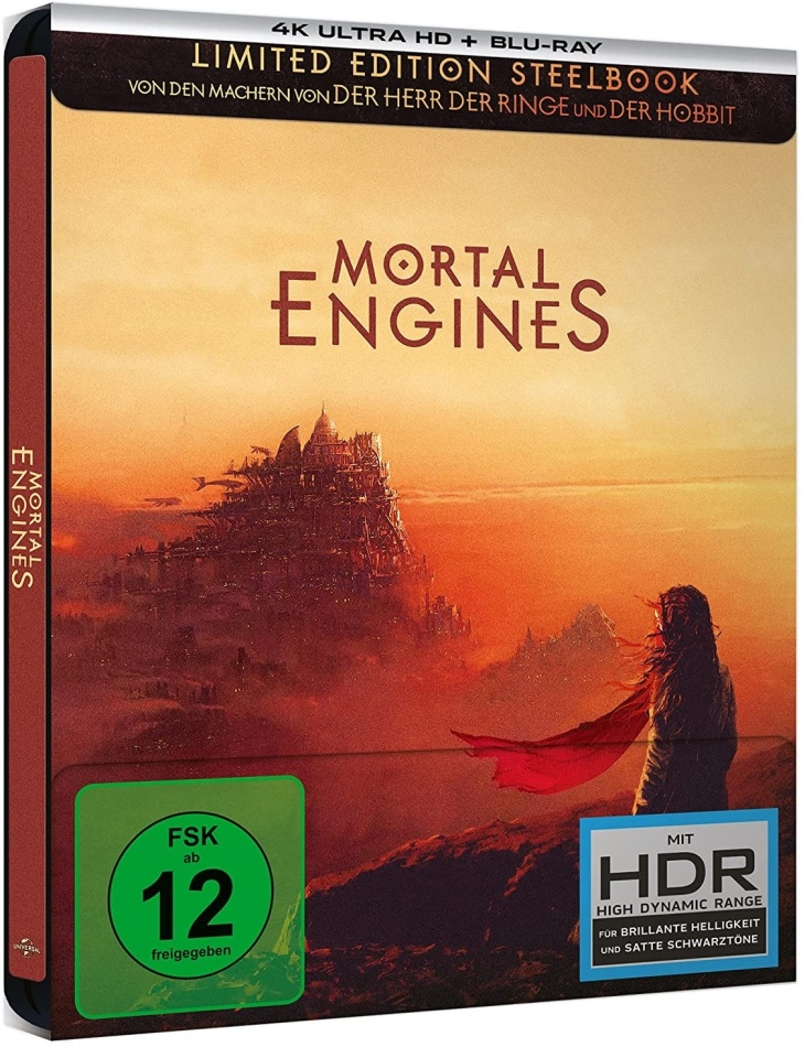 Mortal Engines - Krieg der Städte (2018) (Edizione Limitata, Steelbook, 4K Ultra HD + Blu-ray)