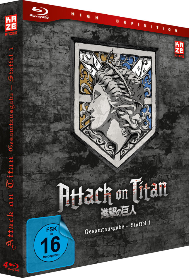 Attack on Titan - Staffel 1 (Gesamtausgabe, Deluxe Edition, 4 Blu-rays)
