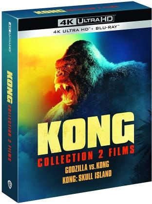Godzilla vs. Kong (2021) / Kong: Skull Island (2017) (2 4K Ultra HDs + 2 Blu-ray)