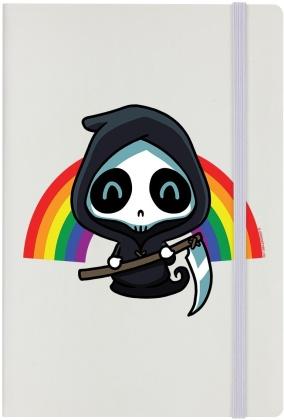 Rainbow Reaper - Cream A5 Hard Cover Notebook