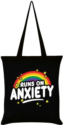 Runs On Anxiety - Tote Bag