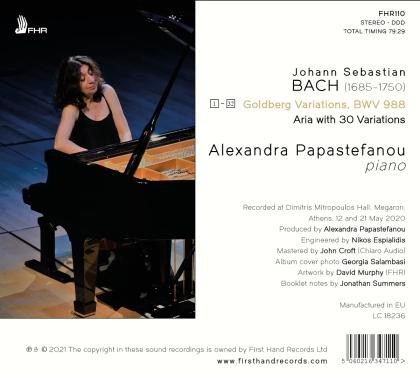 Johann Sebastian Bach (1685-1750) & Alexandra Papastefanou - Goldberg Variations