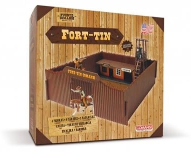 Fort-Tin - Wild West Spieleset inkl. 4 Figuren