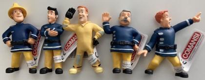 Feuerwehrmann Sam Figuren-Set - 5 Figuren (8cm - 9cm)