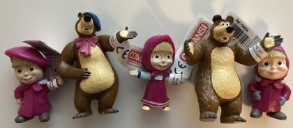 Masha und der Bär Figuren-Set - 5 Figuren (8cm - 9cm)