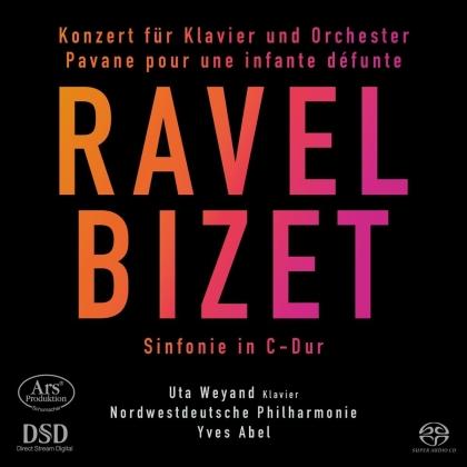 Maurice Ravel (1875-1937), Georges Bizet (1838-1875), Yves Abel, Uta Weyand & Nordwestdeutsche Philharmonie - Konzert für Klavier und Orcheser, Pavane Pour Une - Infante Défunte, Sinfonie in C-Dur (Hybrid SACD)