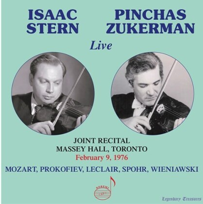 Wolfgang Amadeus Mozart (1756-1791), Serge Prokofieff (1891-1953), Jean-Marie Leclair (1697-1764), Louis Spohr (1784-1859), Henri Wieniawski (1835-1880), … - Duets For Violin - Joint Recital Massey Hall, Toronto, February 9, 1976