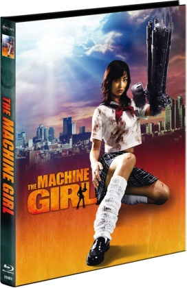 The Machine Girl (2008) (Cover A, Limited Collector's Edition, Mediabook, Uncut, Blu-ray + DVD)