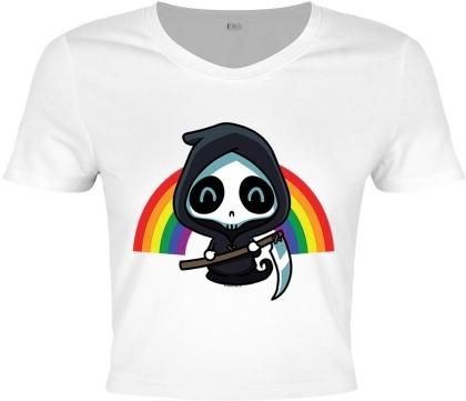 Rainbow Reaper - Ladies Crop Top