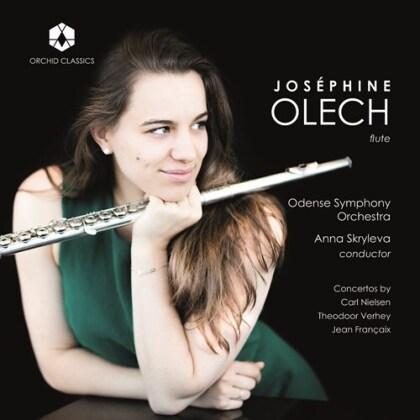 Carl August Nielsen (1865-1931), Theodoor Vethey, Jean Françaix (1912-1997), Anna Skryleva, Joséphine Olech, … - Flute Concertos