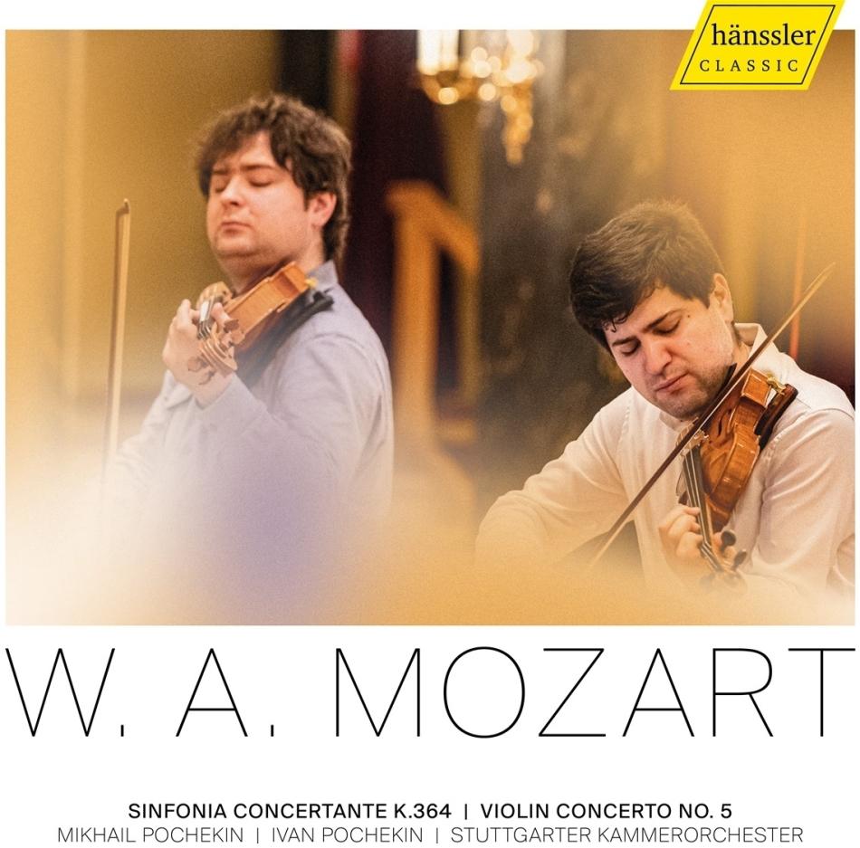 Wolfgang Amadeus Mozart (1756-1791), Mikhail Pochekin, Ivan Pochekin & Stuttgarter Kammerorchester - Sinfonia Concertante KV 364, Violin Concerto No. 5