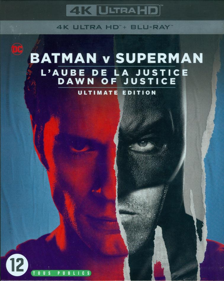Batman v Superman - L'Aube de la Justice - Dawn of Justice (2016) (Nouvelle Edition, Édition Ultime, 4K Ultra HD + Blu-ray)