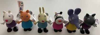 Peppa Wutz Figuren-Set 2 - 6 Figuren (ca. 6cm)