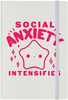 Social Anxiety Intensifies - Cream A5 Hard Cover Notebook