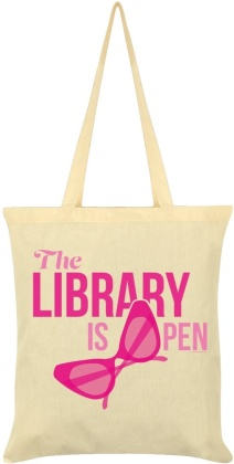 The Library is Open - Cream Tote Bag