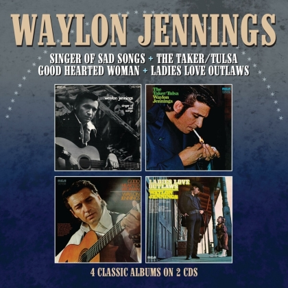 Waylon Jennings - Singer Of Sad Songs / The Taker-Tulsa / Good Hearted Woman / Ladies Love Outlaws (2 CDs)
