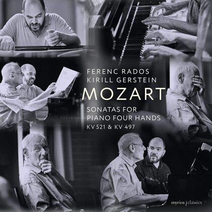 Wolfgang Amadeus Mozart (1756-1791), Ferenc Rados & Kirill Gerstein - Sonatas For Piano Four Hands