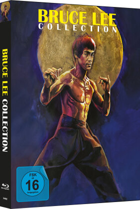 Bruce Lee Collection (Cover A, Limited Edition, Mediabook, Uncut, 4 Blu-rays)