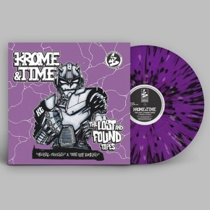 """Krome & Time - Lost And Found Tapes - EP (Purple With White & Black Splatter Vinyl, 12"""" Maxi)"""
