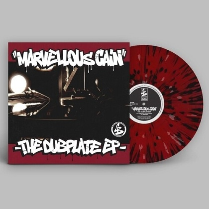 """Marvellous Caine - Dubplate (Red With White And Black Splatter Vinyl, 12"""" Maxi)"""