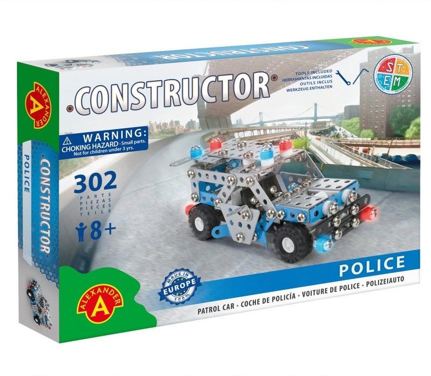 Constructor - Polizeiwagen - 302 Teile