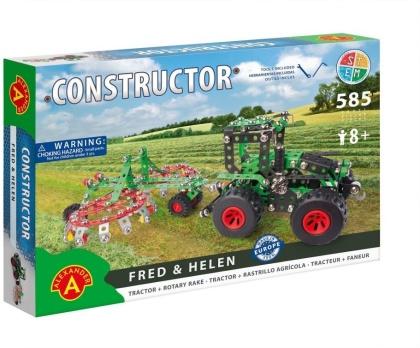 """Constructor - Traktor & Kreiselrechen """"Fred & Helen"""" - 585 Teile"""