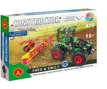 "Constructor - Traktor mit Egge ""Fred & Emily"" - 479 Teile"