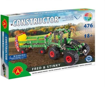"Constructor - Traktor mit Miststreuer ""Fred & Stinky"" - 476 Teile"