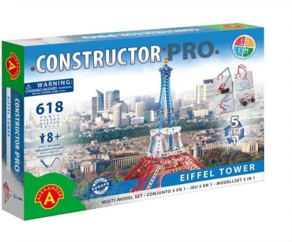 "Constructor Pro - Bausatz 5-in-1 ""Eiffelturm"" - 618 Teile"