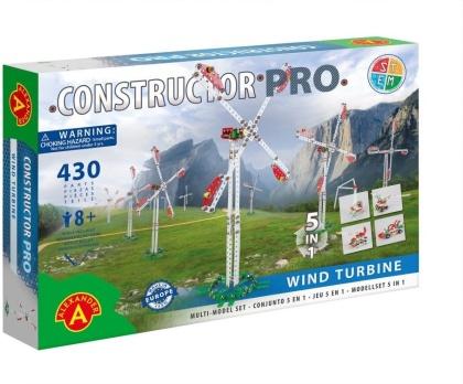 """Constructor Pro - Bausatz 5-in-1 """"Windkraftanlage"""" - 430 Teile"""