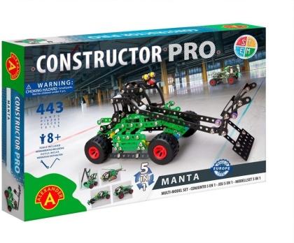 "Constructor Pro - Bausatz 5-in-1 ""Manta"" - 443 Teile"