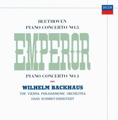 Ludwig van Beethoven (1770-1827), Hans Schmidt-Isserstedt, Wilhelm Backhaus & Wiener Philharmoniker - Piano Concertos 5 & 4 (Japan Edition)