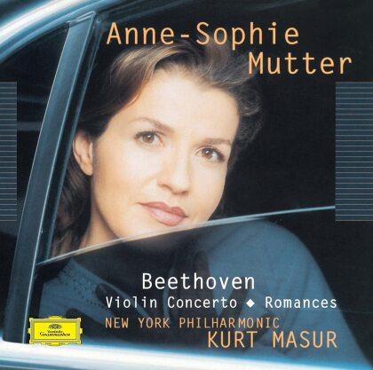 Ludwig van Beethoven (1770-1827), Kurt Masur, Anne-Sophie Mutter & New York Philharmonic - Violin Concerto / Romances (Japan Edition)