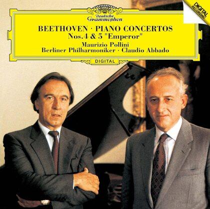Ludwig van Beethoven (1770-1827), Claudio Abbado, Maurizio Pollini & Berliner Philharmoniker - Piano Concertos 4 & 5 (Japan Edition)