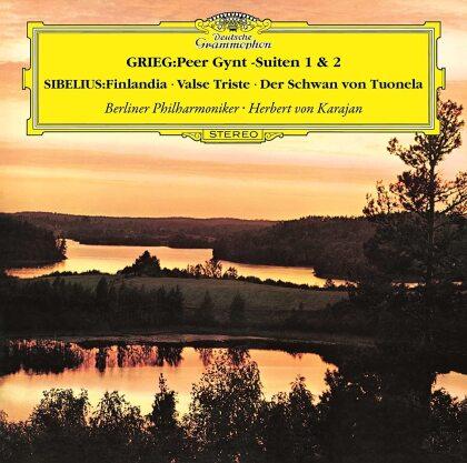 Edvard Grieg (1843-1907), Jean Sibelius (1865-1957), Herbert von Karajan & Berliner Philharmoniker - Grieg: Peer Gynt Suite 1 & 2 / Sibelius: Symphonic (Japan Edition)