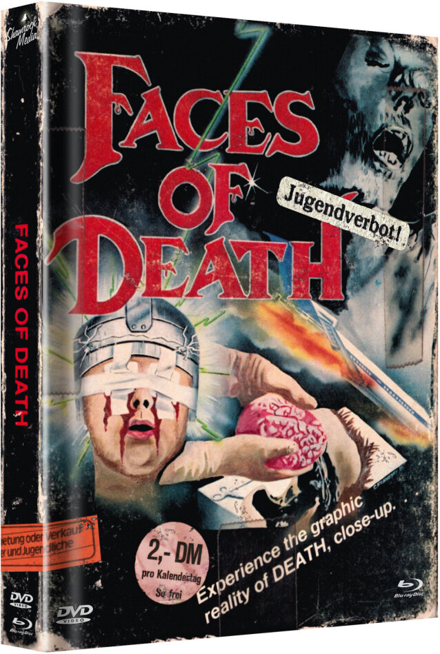 Faces of Death (1978) (Cover E, Limited Edition, Mediabook, Uncut, Blu-ray + DVD)