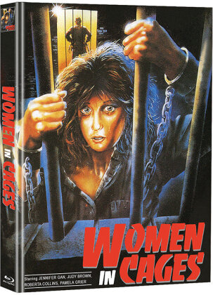Women in Cages (1971) (Cover B, Limited Edition, Mediabook, Blu-ray + DVD)