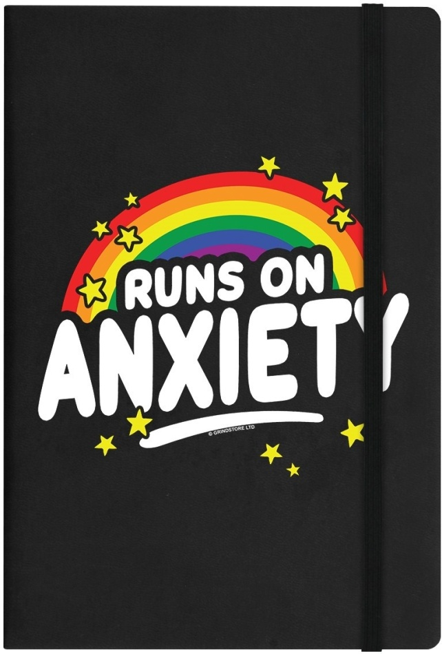 Runs on Anxiety - A5 Notebook